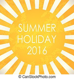 Summer background - 2016, vector illustration, EPS10