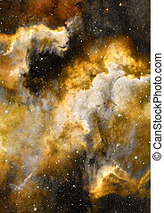 Nebula, Cosmic space and stars, blue cosmic abstract...