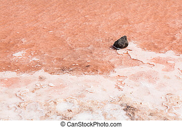 Close up of salt marsh in Salinas in Sal Cape Verde - Cabo...