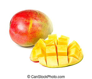 The mango fruit isolated on a white background