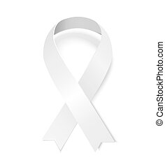 White awareness ribbon