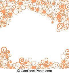 Swirly Seamless Orange Border - A swirly, bright orange...