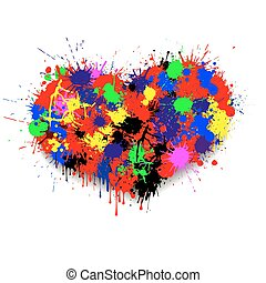 the heart of paint blots
