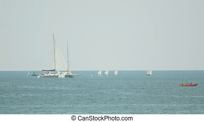 Regatta in Andaman Sea - Sailors competitions near Phuket...