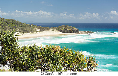 Frenchmans Beach Stradbroke Island - Looking across...