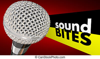 Sound Bites Microphone Words Interview Quotes Catchy Audio...
