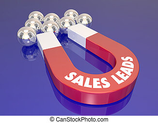 Sales Leads Magnet Attract New Customers Prospects Lead Generation