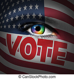 American Voter Concept - American voter concept as a person...