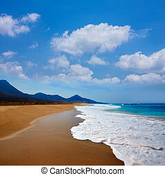 Cofete Fuerteventura beach at Canary Islands - Cofete...