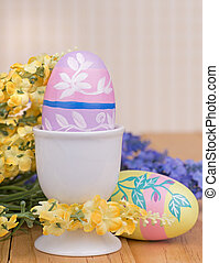 Colored Easter Egg in a Cup