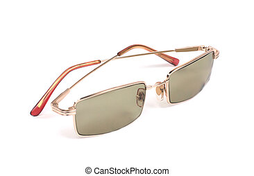 eyeglasses - isolated bright eyeglasses on a white...
