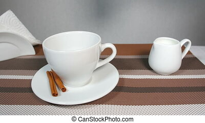 Pouring Coffee into Cup