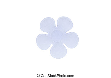 Brooch - white flower Brooch fashion isolate over white...