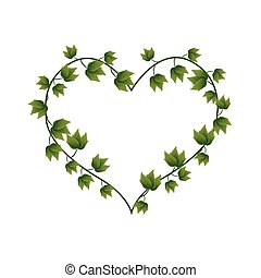 Ivy Vine in A Beautiful Heart Shape - Love Concept,...