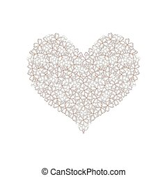 White Lilac or Syringa Vulgaris in A Heart Shape - Love...