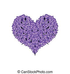Beautiful Violet Lavender in A Heart Shape - Love Concept,...