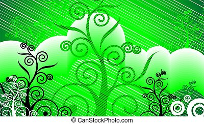 visual art in green colour background