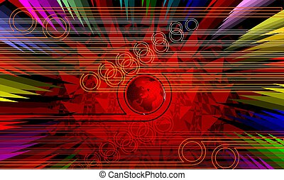 visual art in red colour background