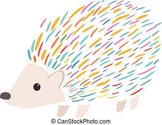 colorful porcupine