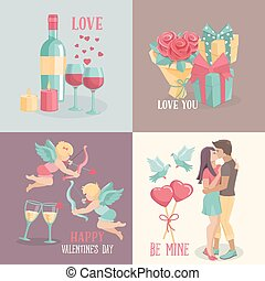 Set  banners  for valentine's day design.