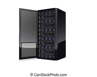 3D Server - 3d server on the white background