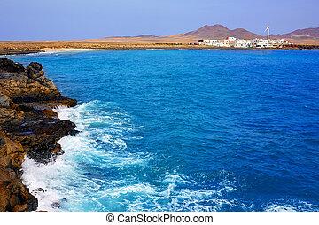 Punta Jandia Fuerteventura and Puerto de la Cruz village at...