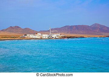 Punta Jandia Fuerteventura and Puerto de la Cruz village at...