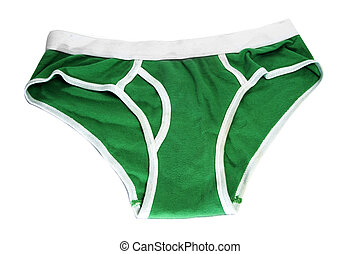 men\'s briefs - green men\'s briefs isolated on a white...