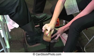 Shoe Shiner (2 of 2) - Shoe Shining