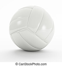 white volley ball - blank volley ball 3d on white background...