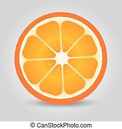 Orange fruit. Vector Illustration EPS 10. Fruit object