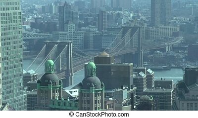 Brooklyn Bridge through a window (2 of 2) - NYC