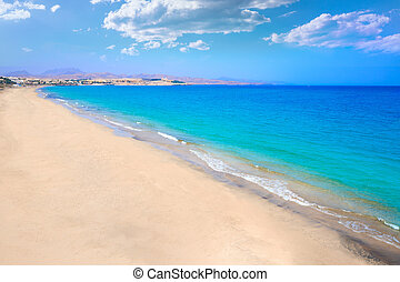 Costa Calma beach of Jandia Fuerteventura at Canary Islands...