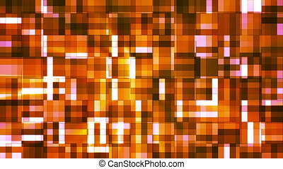 Broadcast Twinkling Squared Hi-Tech Blocks, Orange, Abstract, Loopable, HD