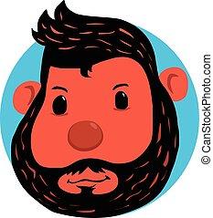 Monkey head doodle art