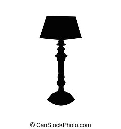 Lamp black silhouette