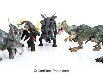 tyrannosaurus, y, Stegosaurus, y, styracosaurus, y,...