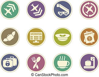 Airport icon set - Airport color icon for web sites and user...