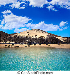 Jandia beach Mal Nombre Fuerteventura at Canary Islands of...