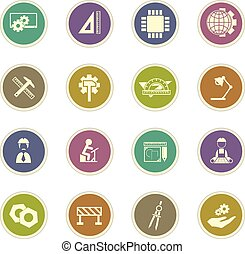Engineering icons set - Engineering vector icons for web...