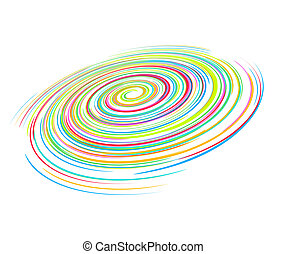 rainbow wave line - abstract rainbow wave line with space of...