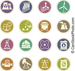 Fuel and Power Generation Icons - Fuel and Power vector...