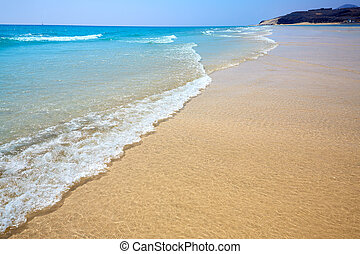 Jandia beach Mal Nombre Fuerteventura at Canary Islands of...