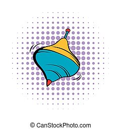 Whirligig comics icon on a white background