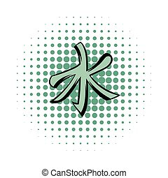 Confucianism comics icon isolated on a white background