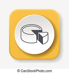cheesecake line icon