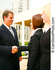 Business Deal - concept for business deal. business man and...