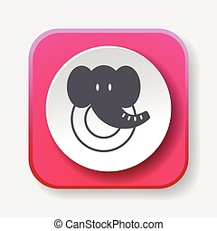 toy elephant icon