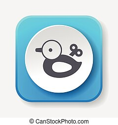 toy duck icon