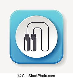 toy skipping rope icon